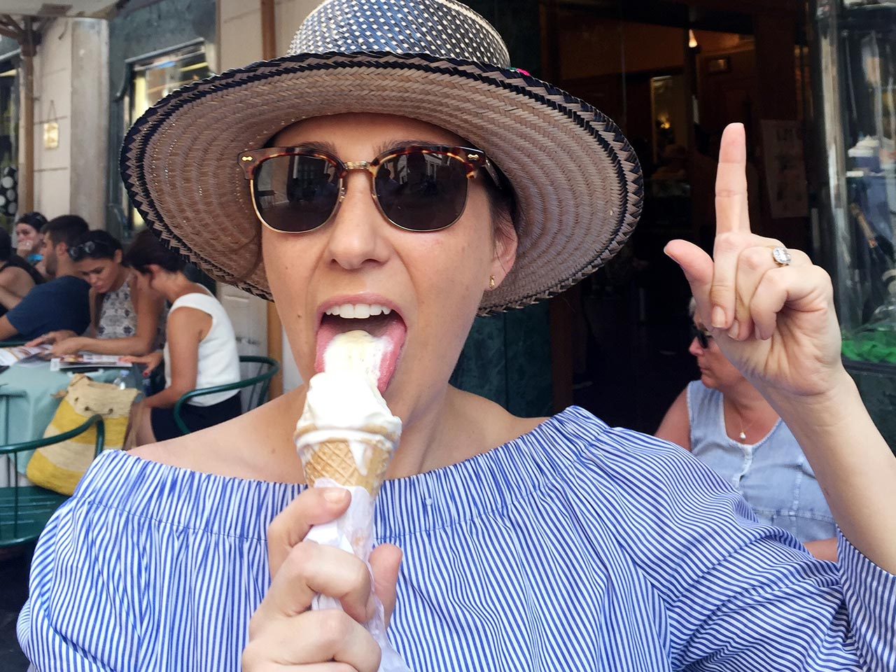 The Blake Family take on Italy's gelato one cone and cup at a time