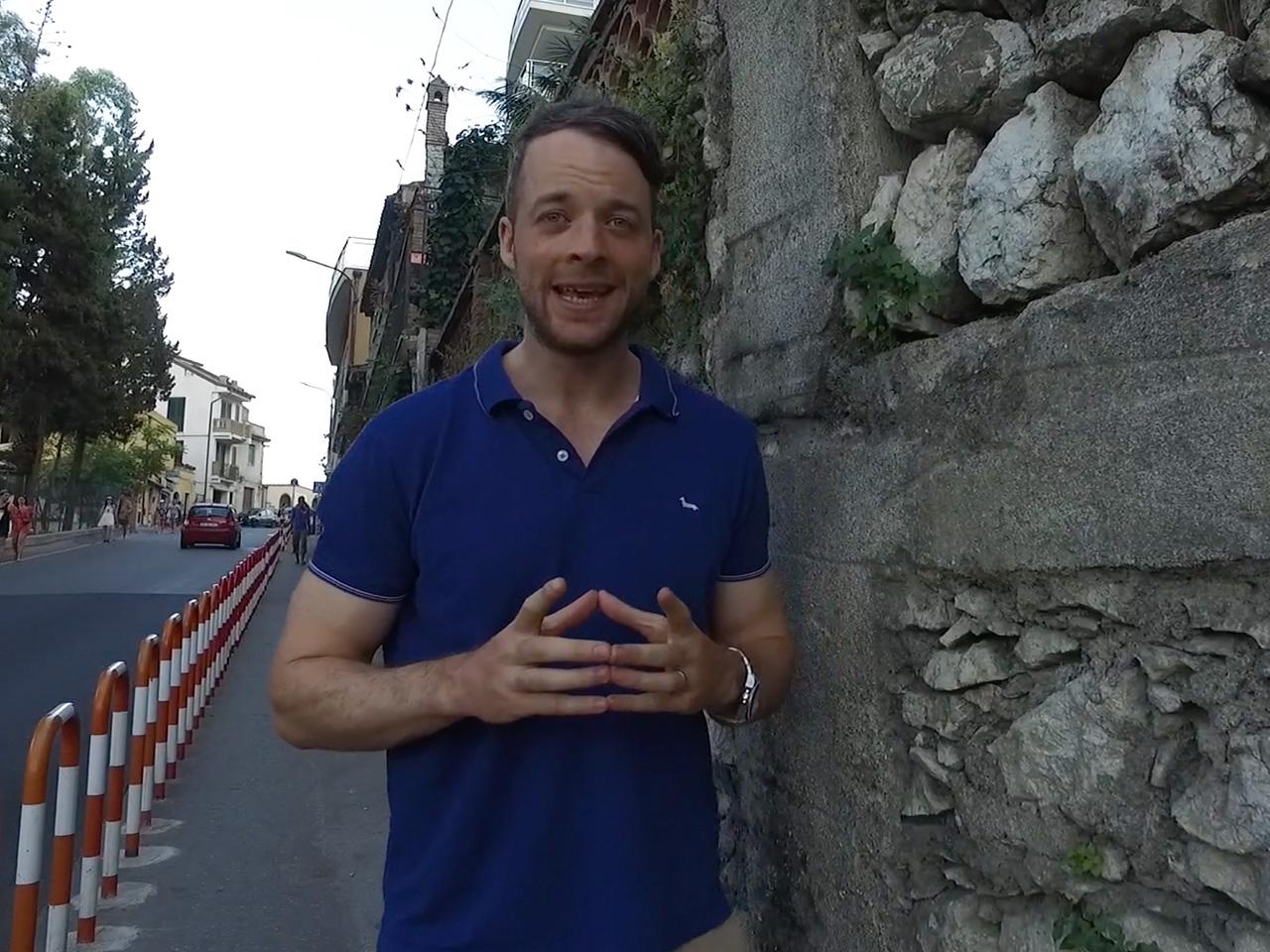 Hamish Blake follows his roots to Sicily