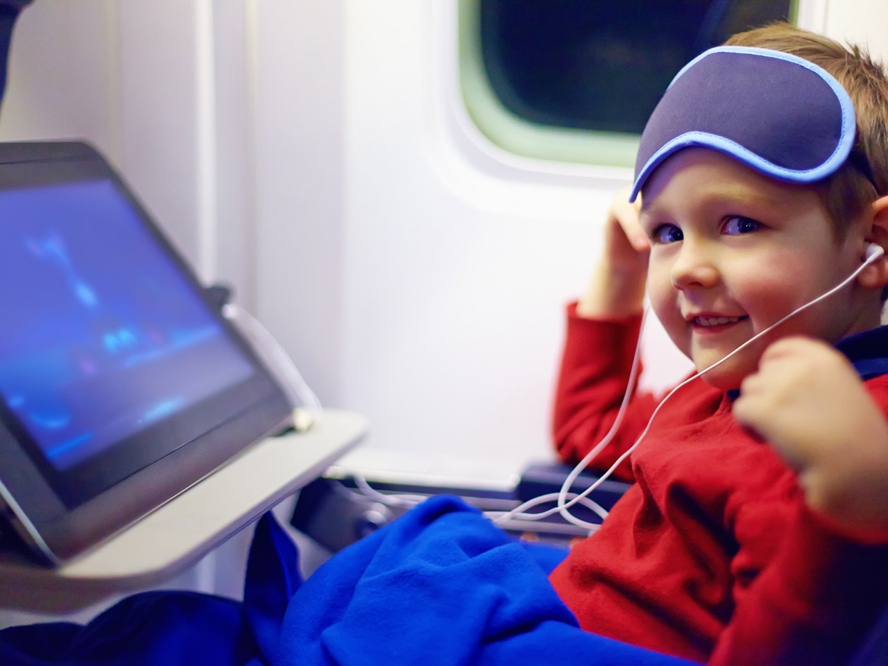Surviving long haul flights with kids