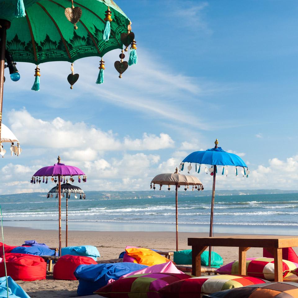 Colourful beach umbrellas
