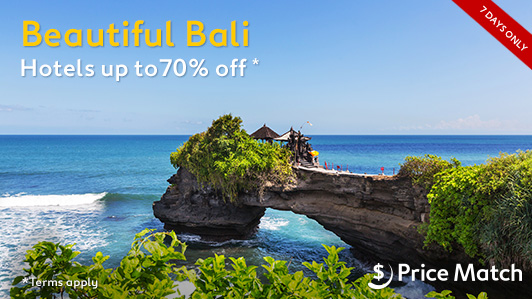Save up to 70% off beautiful Bali hotels at Expedia.com.au