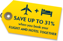 Book Flight & Hotel together and Save up to 30% extra