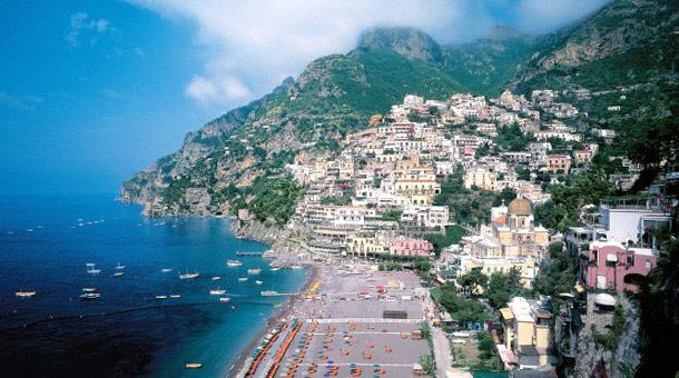 European beach town
