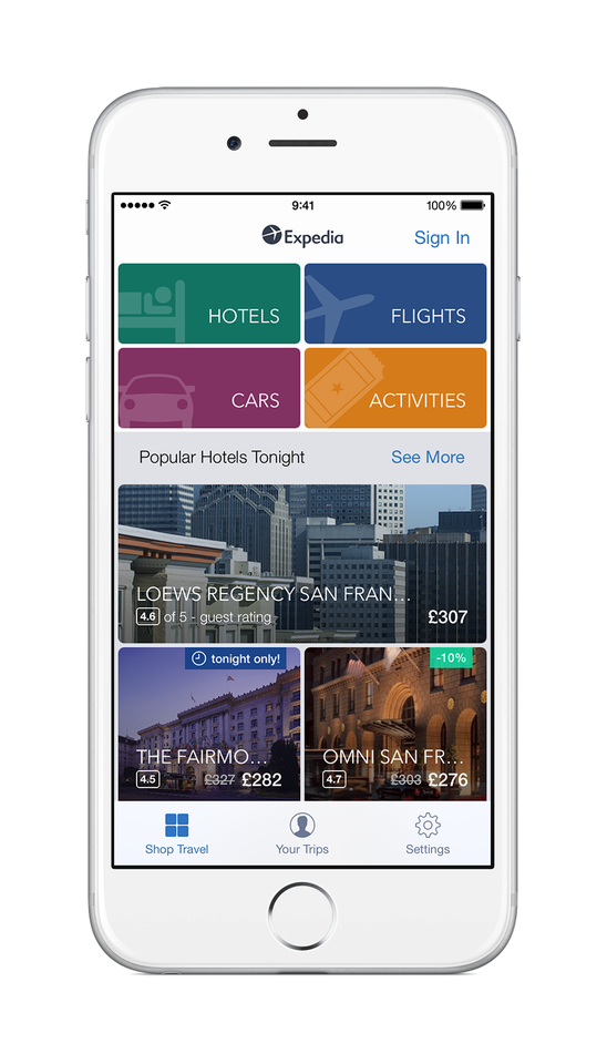 Expedia coupons mobile app