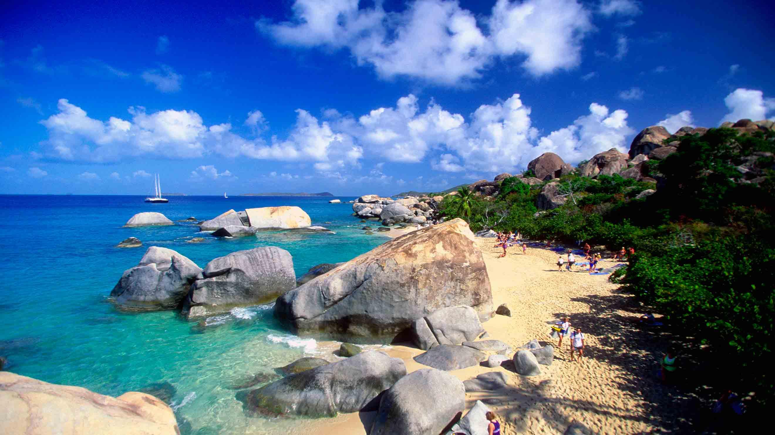 The Baths, Virgin Gorda Island, British Virgin Islands, West Indies  № 1471421 загрузить