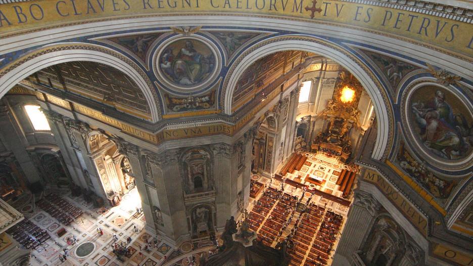 Basilique saint pierre d couvrez rome avec for Exterieur basilique saint pierre