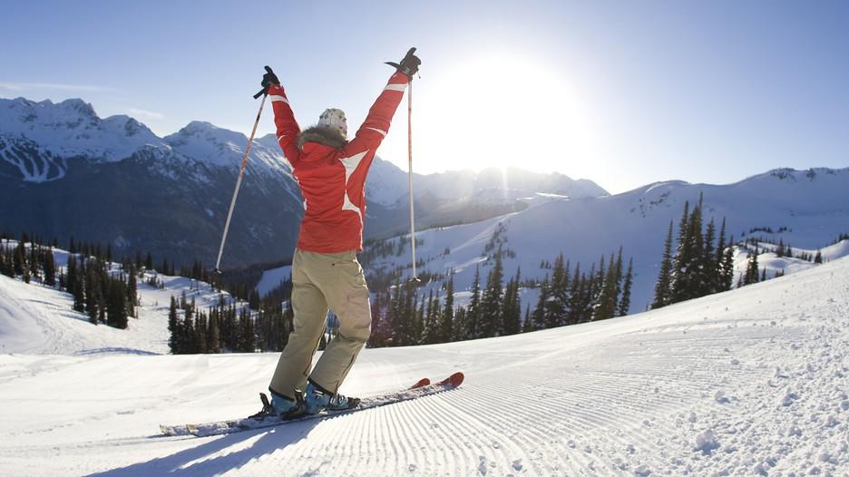 adult ski equipment whistler canada