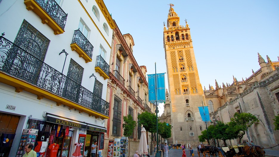 Giralda - флюгер) - на самом деле была минаретом главной мечети, а сейчас - башня собора