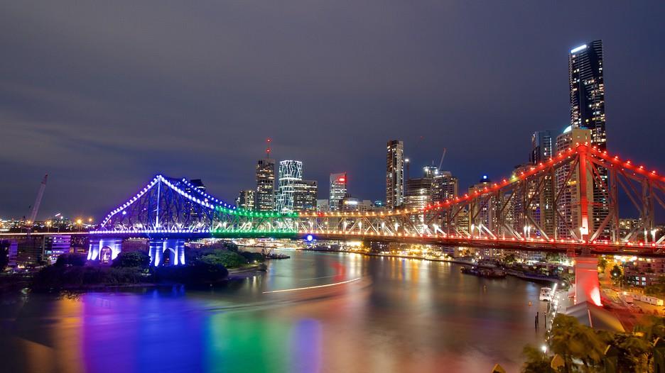Purple Story Bridge Story Bridge Brisbane