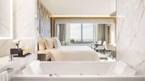 Ropa de cama de alta calidad, colchones con acolchado adicional, minibar