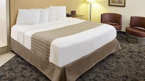Premium bedding, pillowtop beds, laptop workspace, iron/ironing board