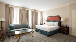 Frette Italian sheets, premium bedding, pillow top beds, in-room safe
