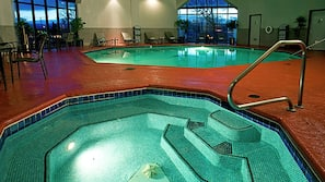 Indoor pool, open 6:00 AM to 10:00 PM, sun loungers