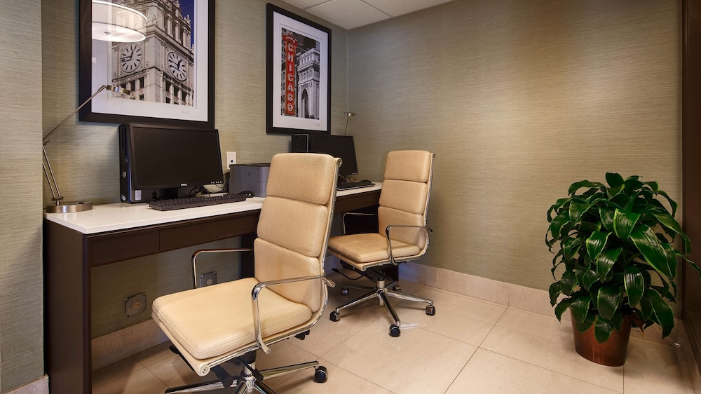 Business Center, Best Western O'Hare/Elk Grove Hotel