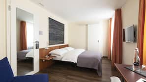 Allergikerbettwaren, Minibar, Zimmersafe, Schreibtisch