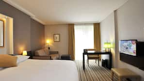 In-room safe, desk, blackout curtains, iron/ironing board