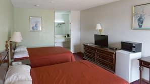 Desk, free WiFi, bed sheets, alarm clocks