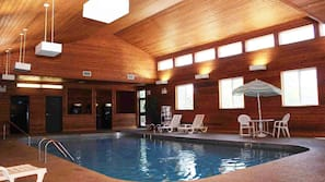 Indoor pool, open 8:00 AM to 10:30 PM, sun loungers