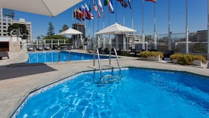 Seasonal outdoor pool, open 8:00 AM to 7:30 PM, pool cabanas (surcharge)