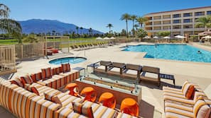 Outdoor pool, open 10:00 AM to 10:00 PM, pool cabanas (surcharge)