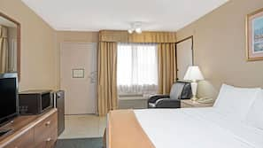 In-room safe, desk, iron/ironing board, cribs/infant beds