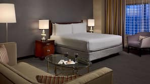 Premium bedding, down comforters, in-room safe, desk