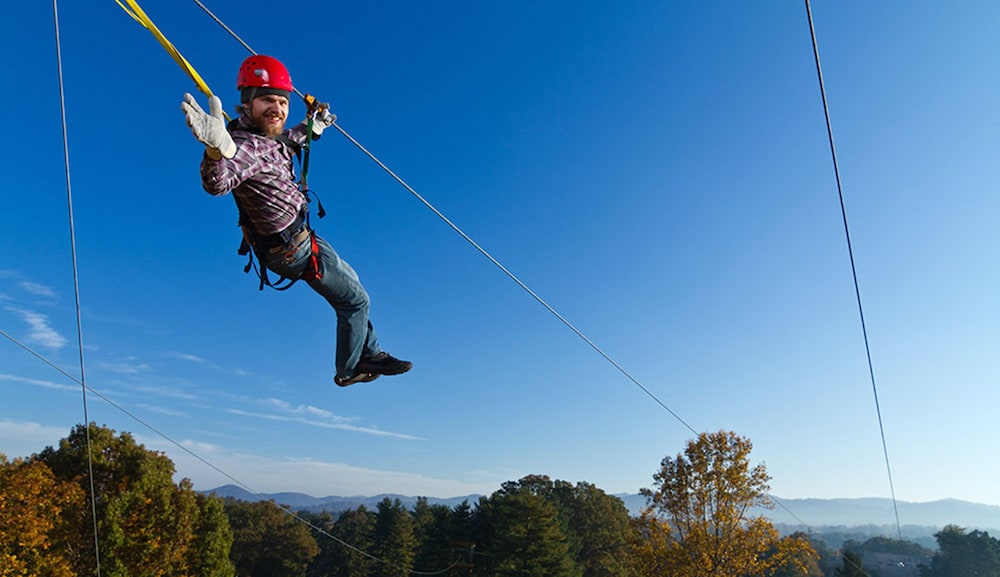 Ziplining, Crowne Plaza Resort Asheville