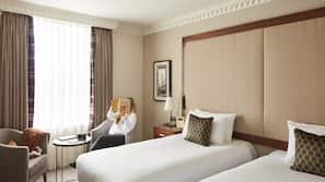 Down duvets, memory-foam beds, in-room safe, desk