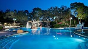 6 piscines extérieures