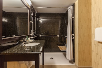 Room, 1 King Bed, Accessible (Roll-In Shower) - Bathroom