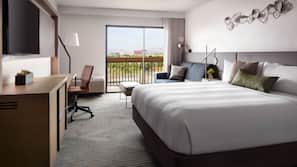 Premium bedding, down duvet, pillow top beds, in-room safe