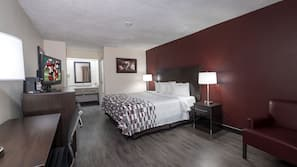 Pillow-top beds, desk, blackout curtains, iron/ironing board