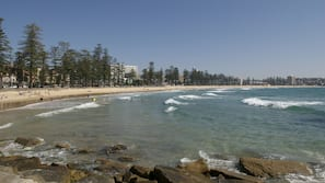 근처 해변, 백사장