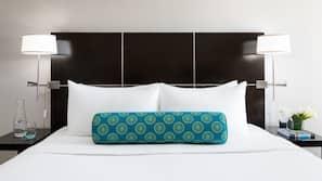 Bettwäsche aus ägyptischer Baumwolle, hochwertige Bettwaren, Zimmersafe