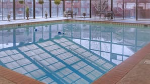 Indoor pool, open 6:00 AM to midnight, sun loungers