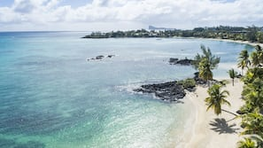 Beach towels, beach massages, snorkeling, water skiing