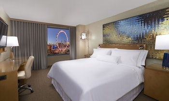 Premium Room, 1 King Bed, View (Strip View) - Guestroom View