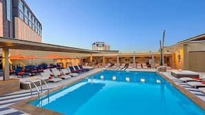 Seasonal outdoor pool, open 10:00 AM to 6:00 PM, cabanas (surcharge)