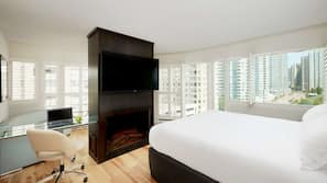Premium bedding, pillow-top beds, desk, iron/ironing board
