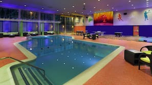 Indoor pool, open 9:00 AM to 9:00 PM, free pool cabanas