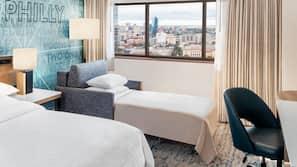 1 bedroom, premium bedding, pillowtop beds, desk