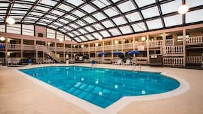 Indoor pool, open 8:30 AM to 10:00 PM, free cabanas