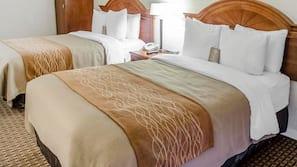 Camas Select Comfort, cofres nos quartos, escrivaninha