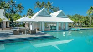 12 outdoor pools, pool cabanas (surcharge), pool umbrellas