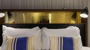 Frette Italian sheets, premium bedding, down duvets, minibar