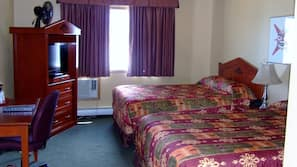 Desk, blackout curtains, iron/ironing board, rollaway beds