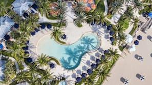 4 outdoor pools, pool cabanas (surcharge), pool umbrellas