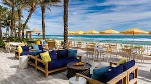 Private beach, sun loungers, beach umbrellas, snorkeling