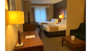 In-room safe, desk, iron/ironing board, alarm clocks