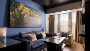 Premium bedding, down comforters, Tempur-Pedic beds, minibar